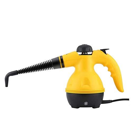 Elektrische Steam Cleaner, Met 9 Pieces Accessory, Chemische-Free Steam Cleaning, Voor Vlekken Verwijderen, Tapijten, Gordijnen, Autostoelen Etc,Yellow