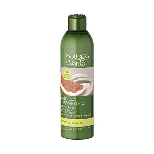 Bottega Verde, Argilla e Pompelmo - Shampoo equilibrante e purificante - con Argilla ed estratto di Pompelmo(250 ml) - capelli grassi