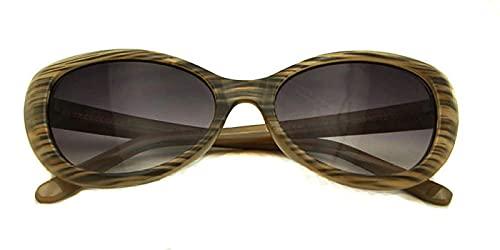 Gosunfly Gafas de sol de mujer retro toroscopia anti-UV con forma de mariposa retro-grano de madera