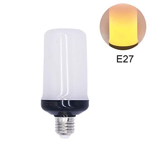 goodluccoy Christmas Flame Effect Fire LED Light Bulb E26/E27 Base Upgraded 4 Modes Flicker