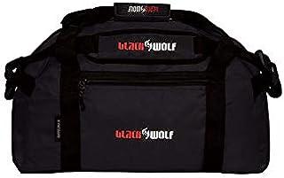 BlackWolf Duffelpack Tough Durable Shoulder Strap Fully Lockable #10 Zippers Duffelbag Black 30L