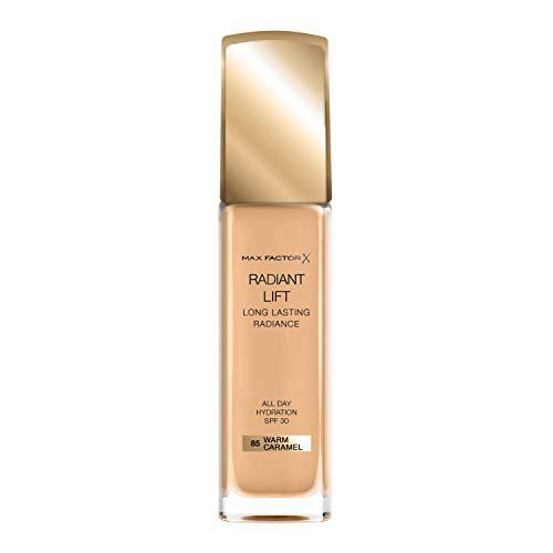 Max Factor Radiant Lift Foundation in 85 Warm Caramel – Cremig weiches Make-up für ein atemberaubendes Finish – Für ein strahlendes Aussehen