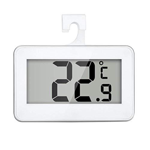 Termómetro del refrigerador Digital Resistente al Agua de Temperatura inalámbrico Refrigerador Congelador a Partir -20 a 60 Grados Grande del LCD Display