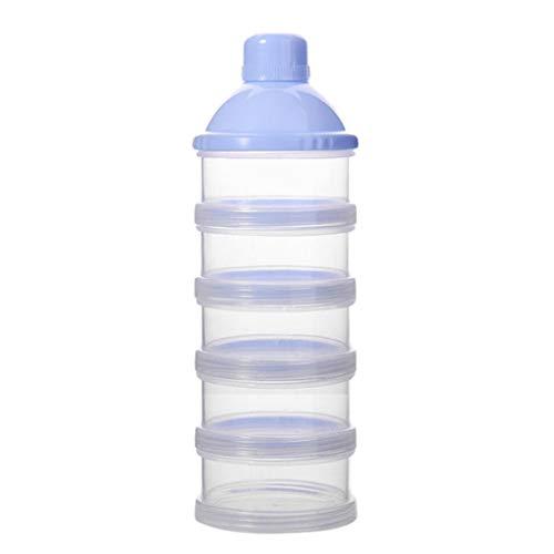 Republe Lait en Poudre pour bébé pour la Poudre de Lait bébé Portable Cas Friandises Distributeur Bonbons Conteneur Pot Boîte 5 Couches (Blue, 5 Layers)