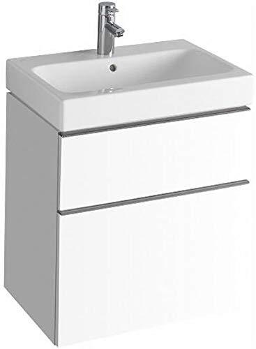 Keramag Waschbeckenunterschrank icon 59,5x62cm x47,7cm Alpin Hochglanz
