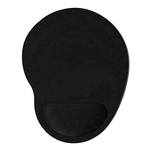 BEIMODZ Alfombrilla de Ratón Color sólido Alfombrilla de ratón EVA Pulsera cómoda Mate Mates para Juego PC PC Laptop 1pcs Mouse Pad (Color : Black)