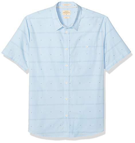 Quiksilver Waterman Men's Button Down Shirt, Cerulean Flowing Falls, S