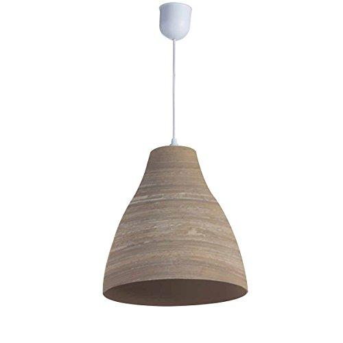 LUSSIOL - Lámpara de techo Calculta pm, de bambú, 60 W, natural, diámetro 30 x altura 33 cm