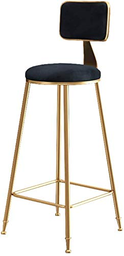 DHFDHD Stools Bar Stools Home Kitchen Breakfast Dining Room Chair Seat Seating Furniture With Backrest Kitchen Pub Counter Chair Velvet Cushion Kitchen Breakfast Barstool Home Office Furniture Pub Bis