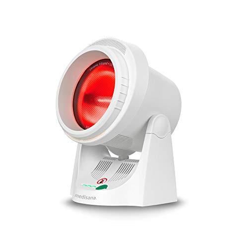 Medisana IR 850 Infrarot-Wärmelampe 300 Watt, Infrarotleuchte zur Verbesserung des Wohlbefindens, Wärmestrahler zur Entspannung der Muskulatur mit Timerfunktion und UV-Licht Schutz