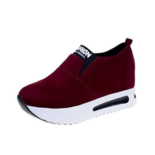 Dames Loafers Met Sleehak Ademende, Gevulkaniseerde Sneakers Casual Sport Hardlopen Wandelschoenen Platform Verborgen Hakschoenen