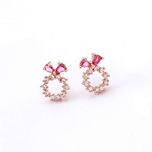 Orecchini in lega Delicati orecchini a cerchio piccolo per le donne Moda zircone semplice Jewely Shiny