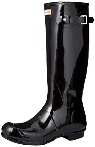 Hunter Original Back Adjustable Gloss - Botas para mujer, Negro (black), 41