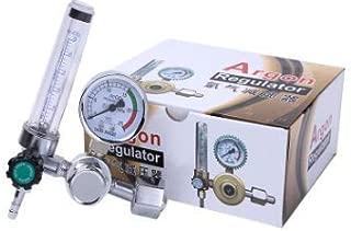 Akozon Medidor de flujo de argón, medidor de regulador de presión de 0-25MPa para soldadura Soldadura Tig Mig