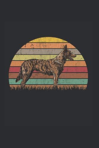 Hollandse Herder Notizbuch: Hollandse Herder Retro Holland Schäferhund / 6x9 Zoll / 120 karierte Seiten Seiten