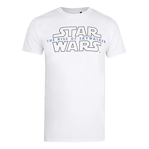 Star Wars Herren Episode 9 Logo T-Shirt, Weiß, Mittel