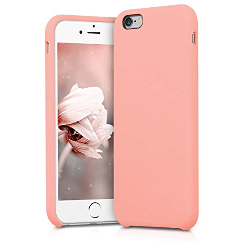 kwmobile Apple iPhone 6 / 6S Cover - Custodia per Apple iPhone 6 / 6S in Silicone TPU - Back Case Cellulare Oro Rosa Matt
