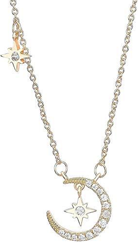 Yiffshunl Collar Fashion Lady Moon Star Collar Encanto Simple
