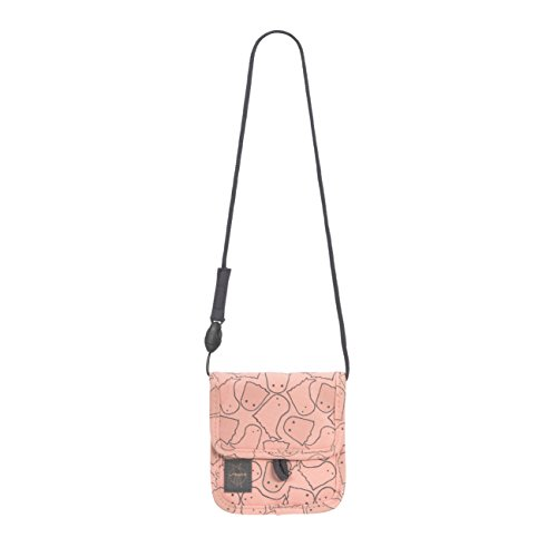 LÄSSIG Brustbeutel Junge Mädchen Brusttasche Umhängetasche Geldbeutel, Kordel mit Kindersicherung / Mini Neck Pouch, Spooky, 13 cm, Rosa