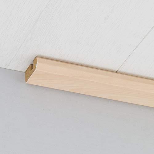 Paneel-Abschlussleiste Abdeckleiste mit Schattenfuge aus MDF in Silber Ahorn 2600 x 35 x 17 mm