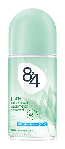 8x4 Pure Deo Roll-on, ohne Aluminium, 6er Pack (6 x 50 ml)