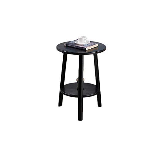 CAIM Houten ronde koffietafel, moderne meubels decoreren woonkamer bijzettafel, voor balkon resistentie en kantoor salontafel