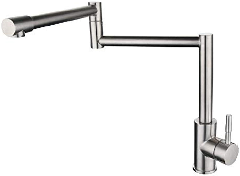 Yuyu19-SLT Bathroom Taps Mixer Mono Basin Mixer Tap Sink Faucet 304 stainless steel redating folding