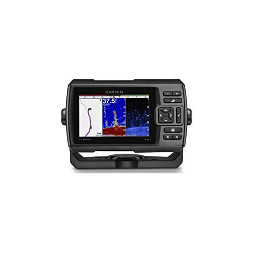 Garmin STRIKER Plus 5Cv GPS Fish Finder with GT20 Transom Mount Transducer,...