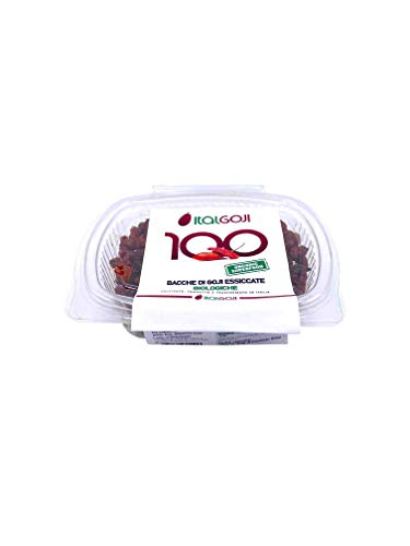 Bacche di Goji Essiccate BIO – 100% ITALIANO - 100% GOJI - SENZA ZUCCHERO - SENZA ADDITIVI - SENZA CONSERVANTI