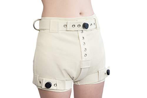 Schwere Ecru Shorts mit Segufix-Schlösser und Schlüssel, die Windel Entfernung unmöglich machen ABDL