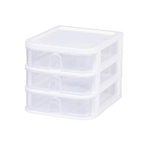 Ydh 3 capas cajón escritorio caja de almacenamiento de plástico varios documentos organizador caja de plástico caja de escritorio de plástico