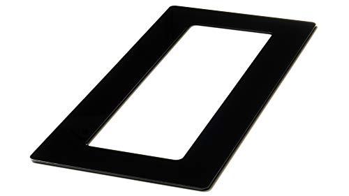 kekef Acrylglas Dekorrahmen hochglanz schwarz 1fach 2fach 3fach 4fach Tapetenschutz Wandschutz für Lichtschalter und Steckdosen (schwarz 3-fach)