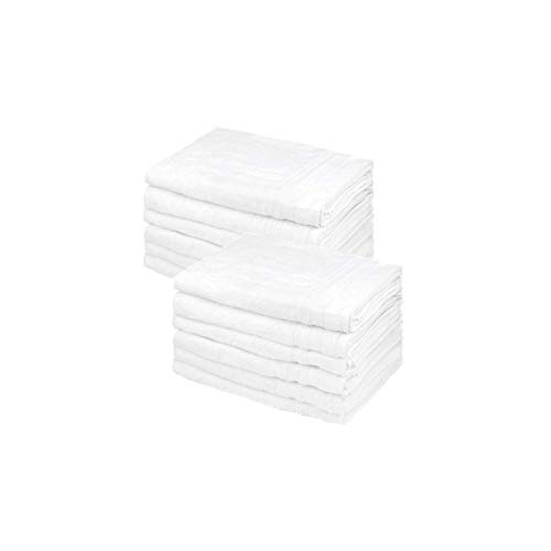 Bokser Home Hospitality Bath Towel | 100% Cotton for A Soft, Hotel Quality Feel | 12 Pack