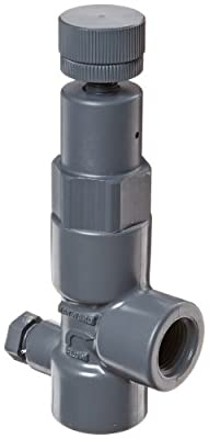 """Hayward RV1050T Series RV Pressure Relief Valve, PVC with FPM Seals, Threaded End, 1/2"""" Size by Hayward Industries, Inc."""