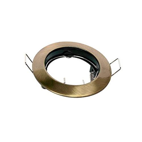 Lampo DIK Fix - Foco empotrable fijo para contrapesos GU10 - Bronce