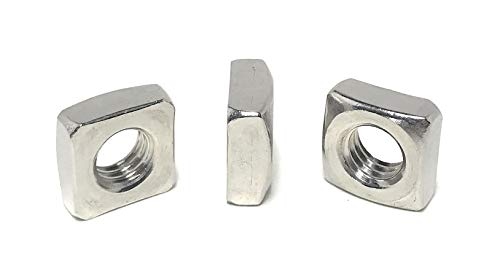 3/8-16 Stainless Steel Square Nuts 18-8 (10 Pcs)