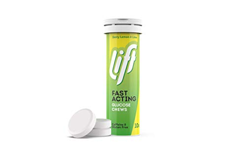 Lift | Fast-Acting Glucose Chewable Energy Tablets | Lemon & Lime | 12 Pack of 10-Tablet Tubes