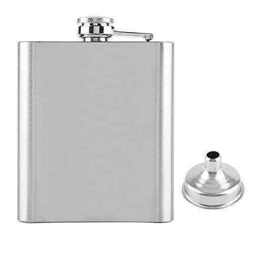 Fiaschetta in acciaio inossidabile, bottiglia di liquore portatile per regali da uomo di alcol di vino di whisky(7oz)