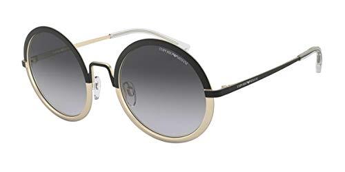Emporio Armani 0EA2077 Gafas de sol, Matte Black/Matte Pale Gold, 52 para Mujer