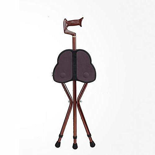 Personal de edad avanzada - Trípode plegable de acero inoxidable Bastón para caminar - Taburete antideslizante para personas de la tercera edad - Personas con discapacidad ( Color : - , tamaño : - )