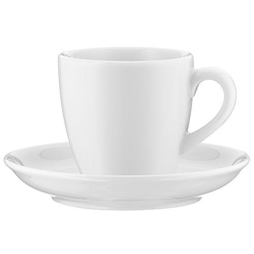 WMF Espressotasse Various, mit Untertasse, 90ml, Porzellan dickwandig, spülmaschinengeeignet, weiß