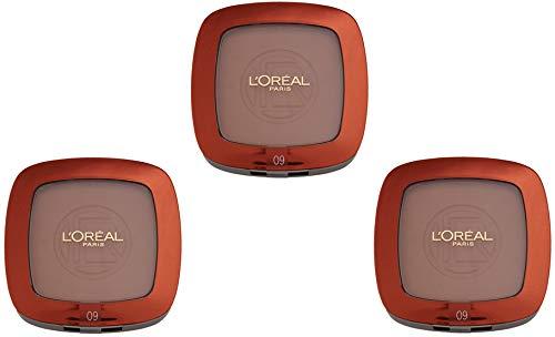 Make-up Glam Bronze Poudre Soleil 09 Canelle, lot de 3 (3 x 58g)