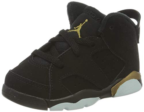 Nike Jordan 6 Retro Basketballschuh, Black Metallic Gold Black, 21 EU