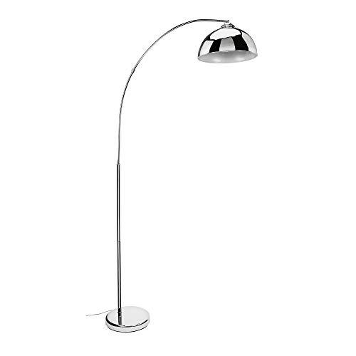 Catalina Lighting 18563-000 Modern Metal Arc Floor Lamp for Living, Family, Bedroom, Dorm Room, Office, 76', Chrome