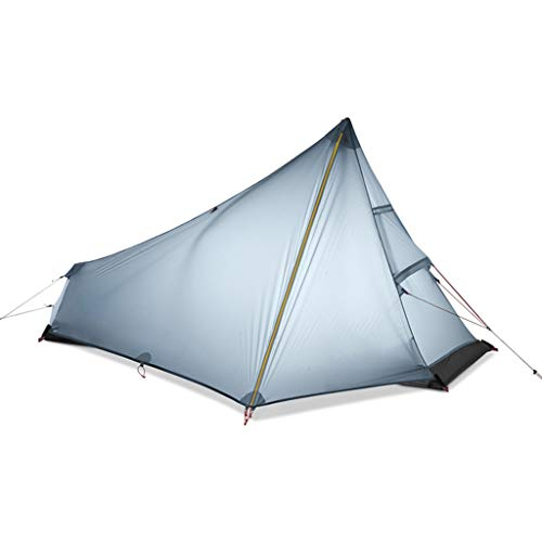 LMJ Ultralight Camping Tent Single Person Easy Set Up Waterproof Portable No Tent Pole Instant Tent for Hiking Fishing (Color : Gray)
