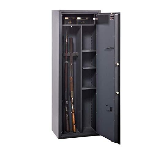 Format Waffenschrank WF 145 Kombi, Doppelbartschloss mit 2 Schlüsseln, Klasse A nach VDMA 24992, H145xB50xT37 cm, 85 kg