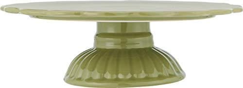 IB Laursen Tortenplatte, Kuchenständer auf Fuß MYNTE Herbal Green grün D 29cm