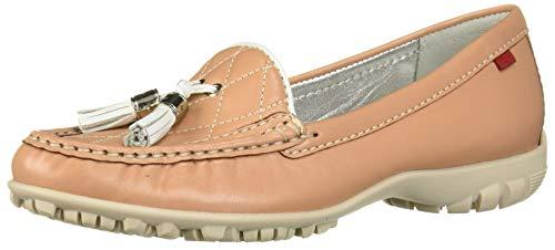 MARC JOSEPH NEW YORK Damen Echtleder Made in Brazil Wall Street Golf Schuh Sportschuh, Weiá (Café Creme-Nappa/Weiß), 36 EU