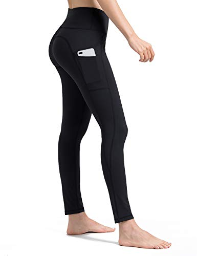 ALONG FIT Yoga Pants for Women with Cell Phone Pockets Yoga Leggings for Workout Running 4 Way Stretch