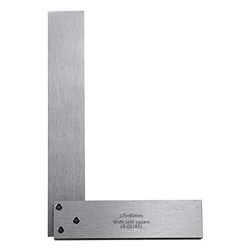 Maschinist Platz Set Carbon Steel Holzverarbeitung High Precision 125 X 80 Mm 90 Grad Breiten Sitz Silver Square Industriebedarf